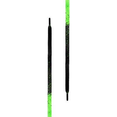 Sireturi Tubelaces Gold Flat Splatter Negru Verde 1