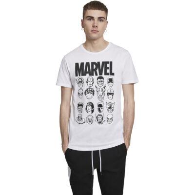 Tricou Merchcode Marvel Crew Alb
