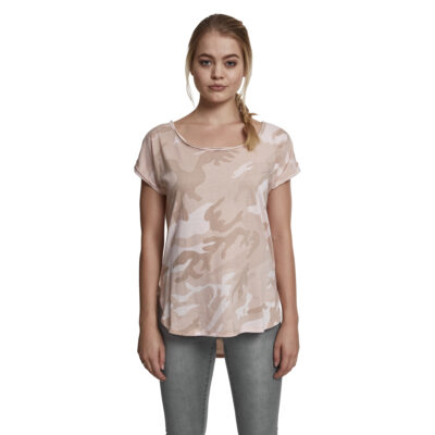 Tricou Urban Classics Back Shaped Camo Roz