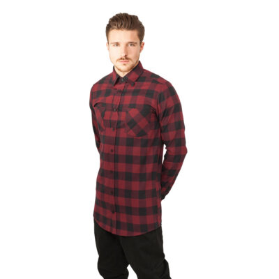 Camasa Mister Tee Checked Flanell Burgundy