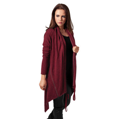Cardigan Urban Classics Ladies Terry Burgundy