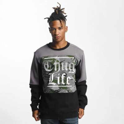 Bluza Thug Life New Life Grey Camo
