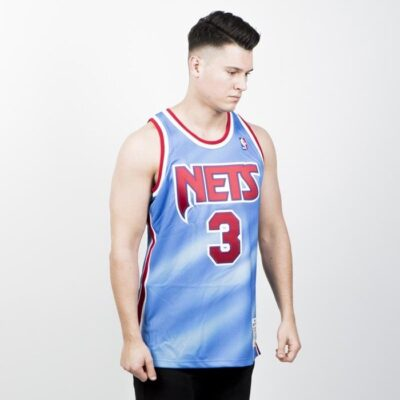Jersey Authentic Mitchell & Ness Brooklyn Nets - Drazen Petrovic 1990-91 sky red 2