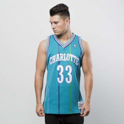 Jersey Swingman Mitchell & Ness Charlotte Hornets - Alonzo Mourning blue