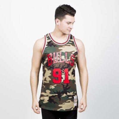 Jersey Swingman Mitchell & Ness Chicago Bulls - Dennis Rodman Camo