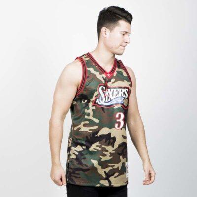 Jersey Swingman Mitchell & Ness Philadelphia 76ers - Allen Iverson Camo 2