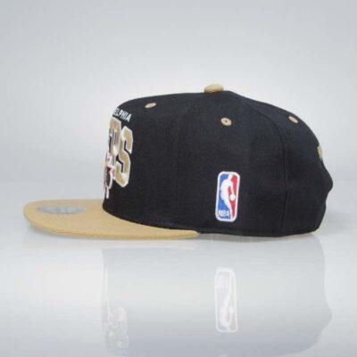 Sapca Mitchell & Ness Philadelphia 76ers black sand 2