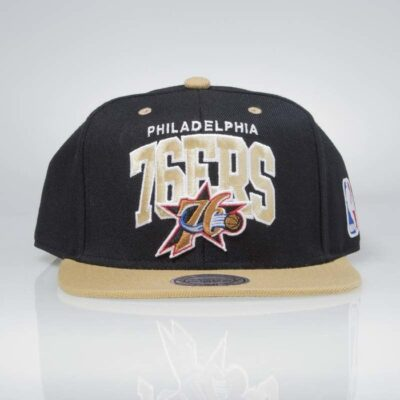 Sapca Mitchell & Ness Philadelphia 76ers black sand