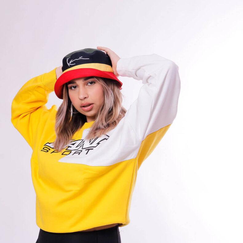 Bluza-Karl-Kani-SPRT-Block-Yellow-White-1