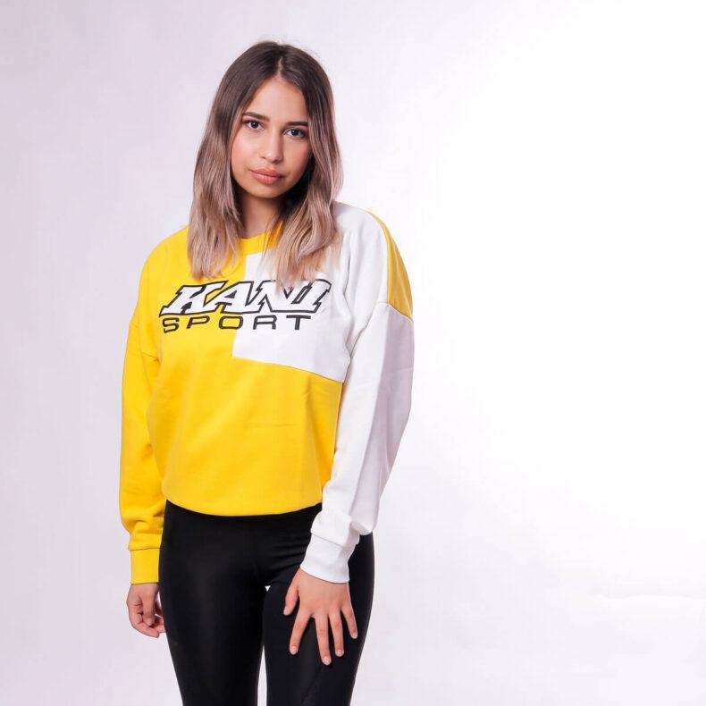 Bluza-Karl-Kani-SPRT-Block-Yellow-White-2