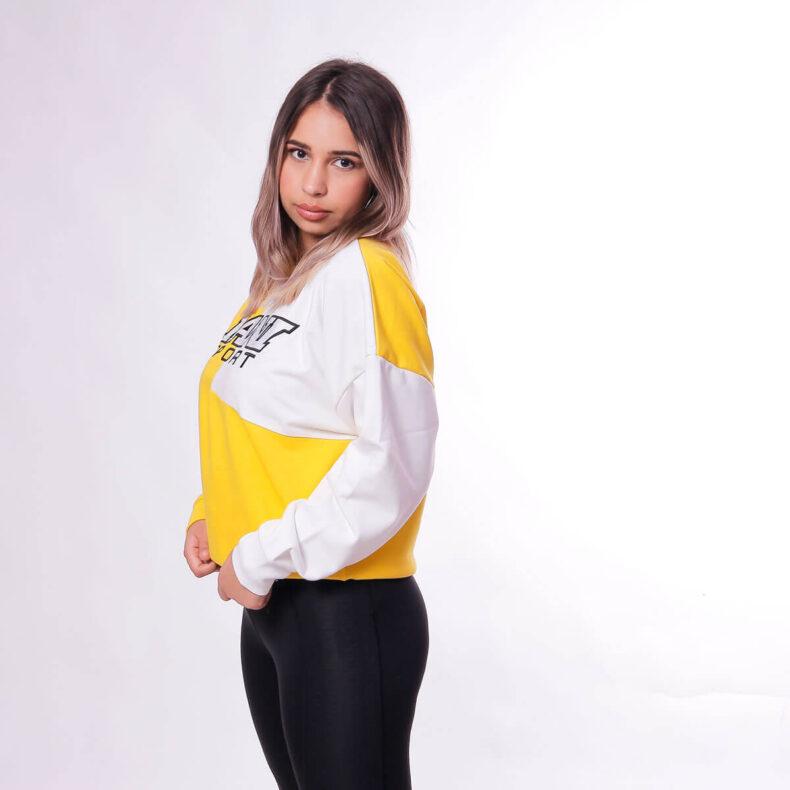 Bluza-Karl-Kani-SPRT-Block-Yellow-White-3