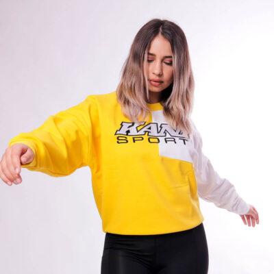 Bluza-Karl-Kani-SPRT-Block-Yellow-White