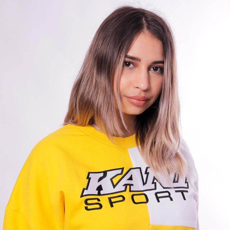 Bluza-Karl-Kani-SPRT-Block-Yellow-White-5