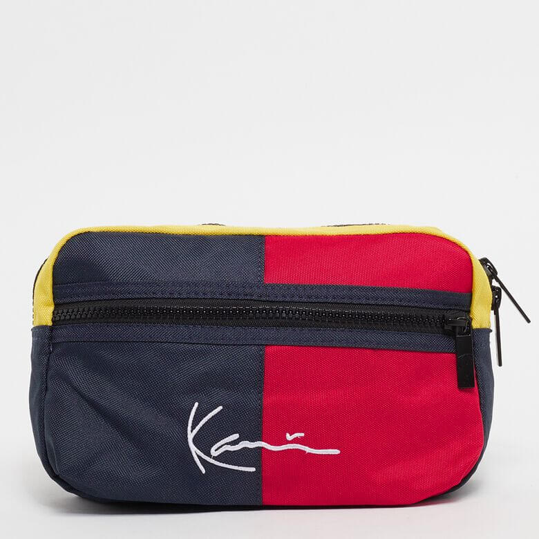 Borseta Karl Kani Signature Block Hip Bag Navy