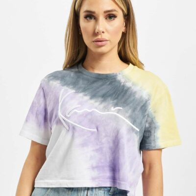 Tricou Karl Kani Signature Tie Dye Crop Wide 1