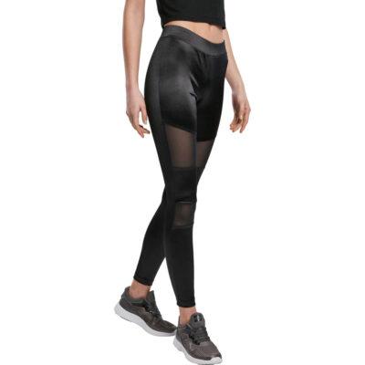 Leggings Urban Classics Ladies Shiny Tech Mesh