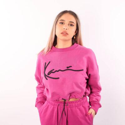 Bluza Karl Kani Signature Short Dark Pink