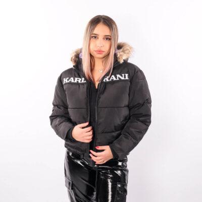 Geaca Karl Kani Retro Hooded Puffer Black