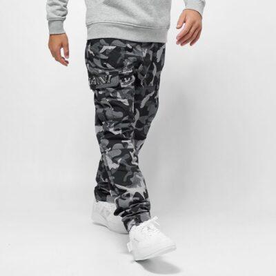 Pantaloni Karl Kani Signature Camo Crincle Nylon Black