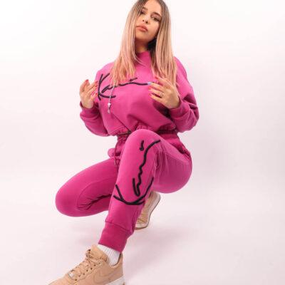 Pantaloni Karl Kani Signature Dark Pink 6