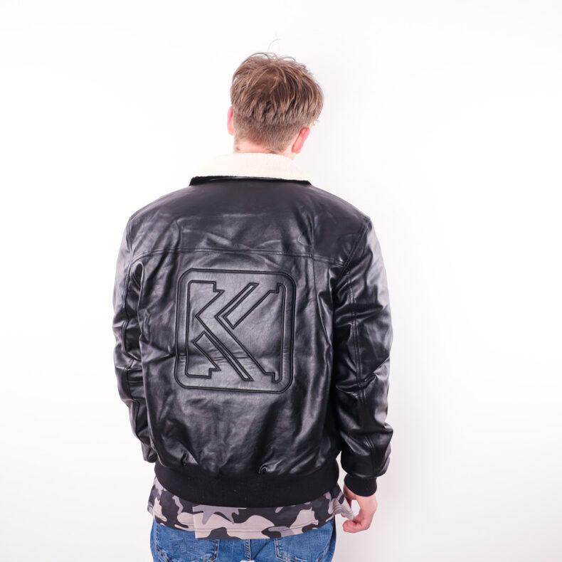 Geaca Karl Kani Retro Fake Leather Black 3