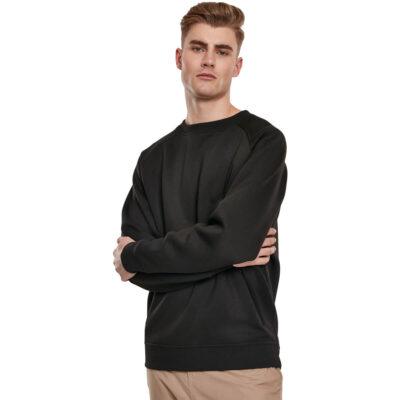 Bluza Urban Classics Cut On Sleeve Naps Interlock Crew Black