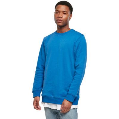 Bluza Urban Classics Organic Basic Crew Sporty Blue