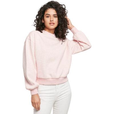Bluza Urban Classics Oversized Color Melange Pink