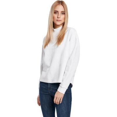 Bluza Urban Classics Oversized High Neck White
