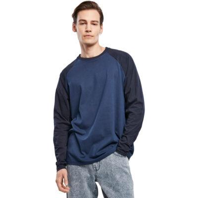 Bluza Urban Classics Raglan Contrast LS Blue