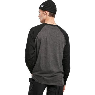 Bluza Urban Classics Raglan Contrast LS Grey 1