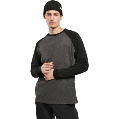 Bluza Urban Classics Raglan Contrast LS Grey