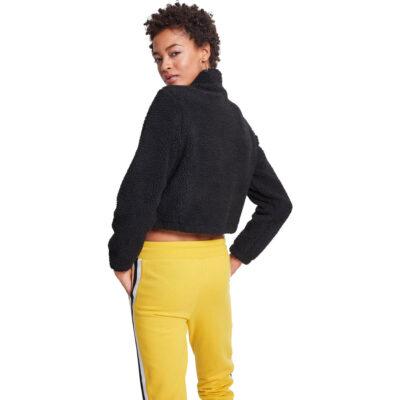 Bluza Urban Classics Short Sherpa Black