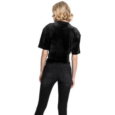 Bluza Urban Classics Velvet Short Kimono Black 1