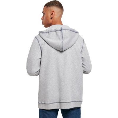 Hanorac Urban Classics Organic Contrast Flatlock Stitched Zip Grey 1