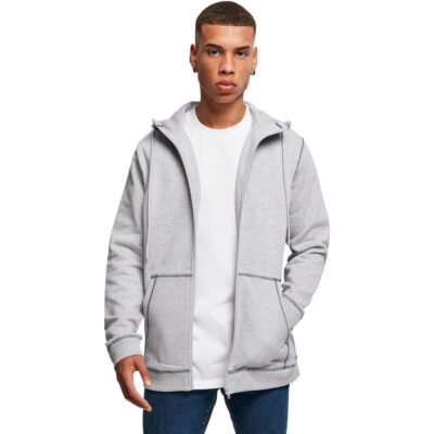 Hanorac Urban Classics Organic Contrast Flatlock Stitched Zip Grey