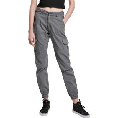 Leggings Urban Classics High Waist Cargo Grey