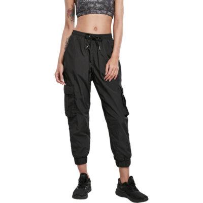 Leggings Urban Classics High Waist Crinkle Nylon Cargo Black 3