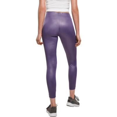 Leggings Urban Classics Imitation Leather Violet 1