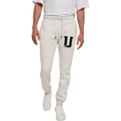 Pantaloni Urban Classics Frottee Patch White