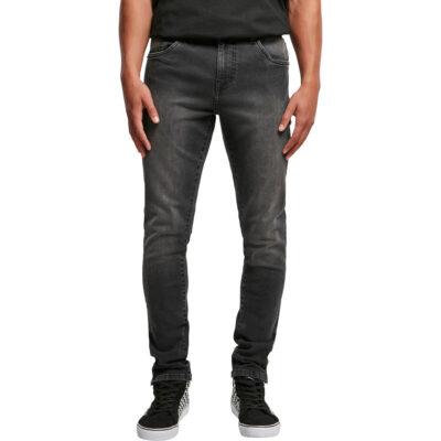 Pantaloni Urban Classics Slim Fit Zip Jeans Black 3