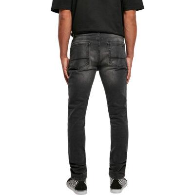 Pantaloni Urban Classics Slim Fit Zip Jeans Black