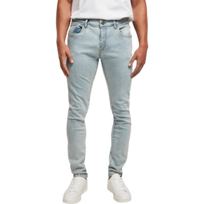 Pantaloni Urban Classics Slim Fit Zip Jeans Light 3