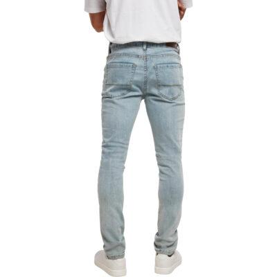 Pantaloni Urban Classics Slim Fit Zip Jeans Light
