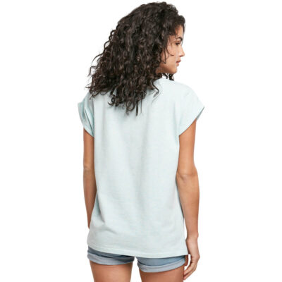 Tricou Urban Classics Color Melange Extended Shoulder Aqua Melange 1