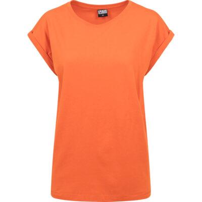 Tricou Urban Classics Extended Shoulder Orange