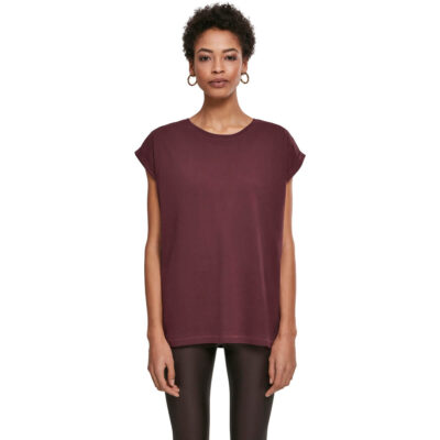 Tricou Urban Classics Extended Shoulder Red Wine 3