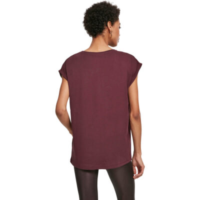 Tricou Urban Classics Extended Shoulder Red Wine