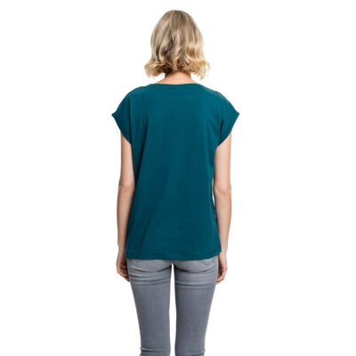 Tricou Urban Classics Extended Shoulder Teal 1