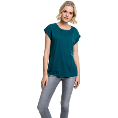 Tricou Urban Classics Extended Shoulder Teal
